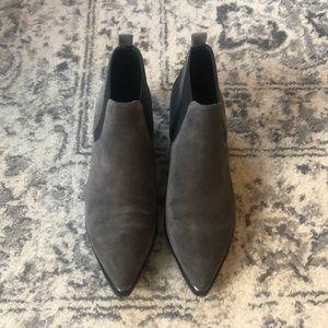 Marc Fisher LTD grey suede booties